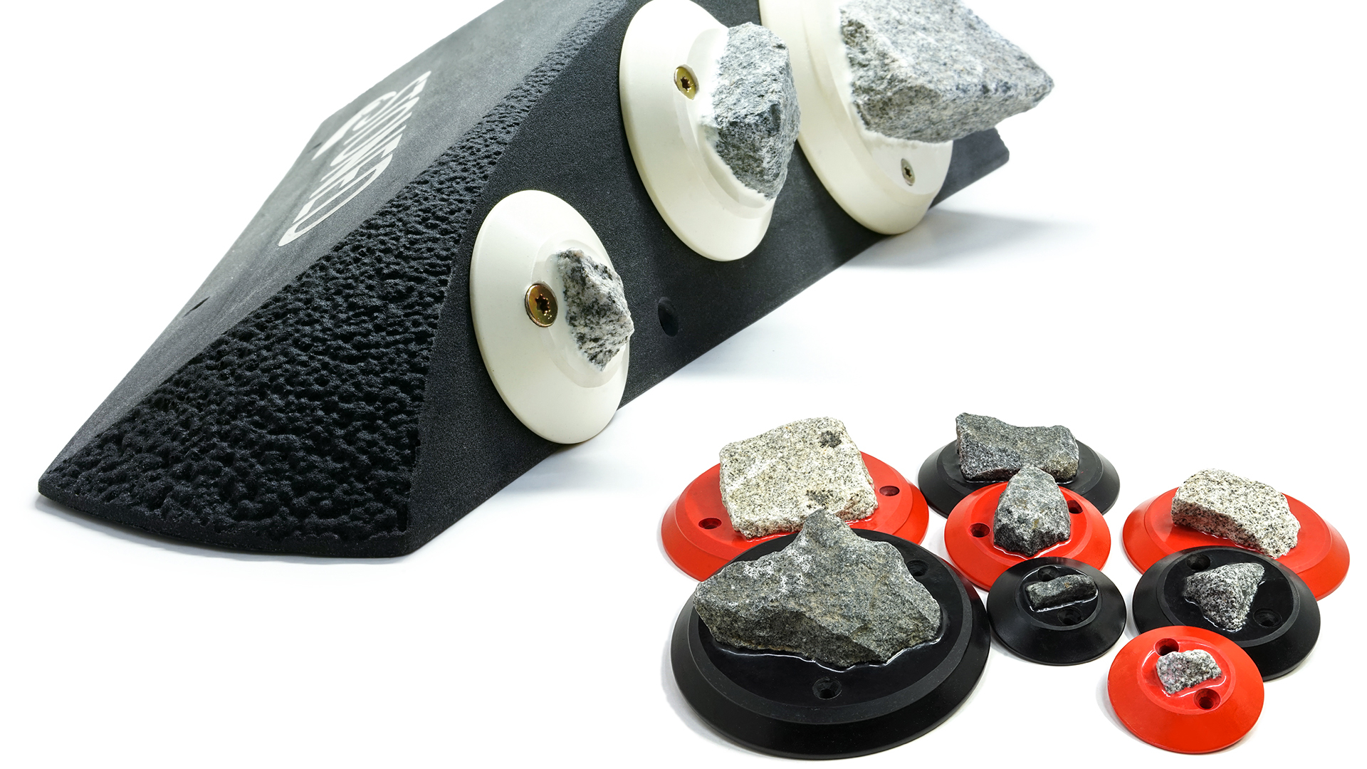 Stone climbing holds and the revolutionary holume.
